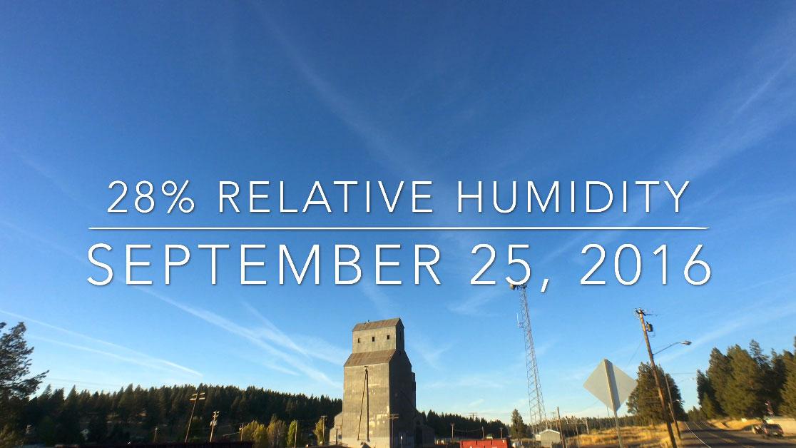 28% Relative Humidity